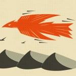 Flying eagle vector art — Stock Vector