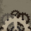 Royalty-Free Stock Vector Image: Grunge cogwheel background