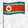 North Korea flag background with grunge effect — Image vectorielle