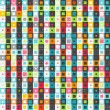 Royalty-Free Stock Vector Image: Retro colored squares seamless pattern