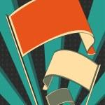 Revolution flag poster — Stock Vector