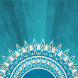 Vintage blue sun background with grunge effect - Stock Vector