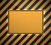 Warning sign background — Stock Vector