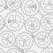 White cogwheel seamless pattern — Stock Vector