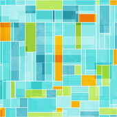 Abstract colored mosaic seamless pattern — Stock Vector