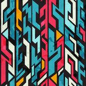 Patrón sin costuras graffiti abstracto con efecto grunge — Vector de stock