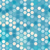 Células de grunge abstrato azul sem emenda — Vetorial Stock