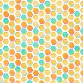 グランジ効果と抽象的なハニカム シームレスなパターン — ストックベクタ