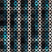 Naadloze patroon van abstracte lijnen grunge — Stockvector
