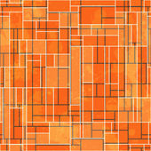 Abstract orange rectangle seamless pattern with grunge effect — Stock Vector