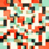 Abstract orange squares seamless pattern — Stock Vector