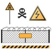 Abstract warning signs set — Stock Vector
