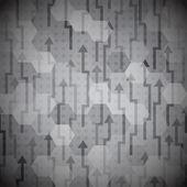 Black arrows seamless pattern — Stock Vector