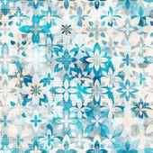 Dessin sans couture de neige bleue fleurs — Vecteur