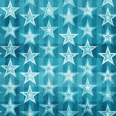 Grunge blue stars seamless pattern — Stock Vector