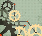 Grunge cogwheel background — Stock Vector