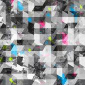 Grunge geometric seamless texture — Stock Vector