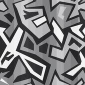 Monochrome graffiti seamless — Stock Vector