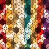 Multicolored cube seamless — Stock Vector