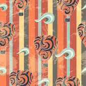 Vintage air balloon seamless pattern — Stock Vector