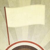 старинный флаг фон с гранж эффект — Cтоковый вектор