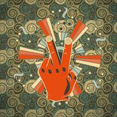 Vintage hand vrede — Stockvector