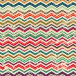 Vintage zigzag seamless pattern with grunge effect — Stock Vector