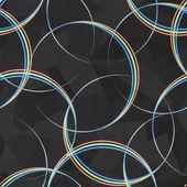 Spectrum circles seamless pattern — Stockvektor