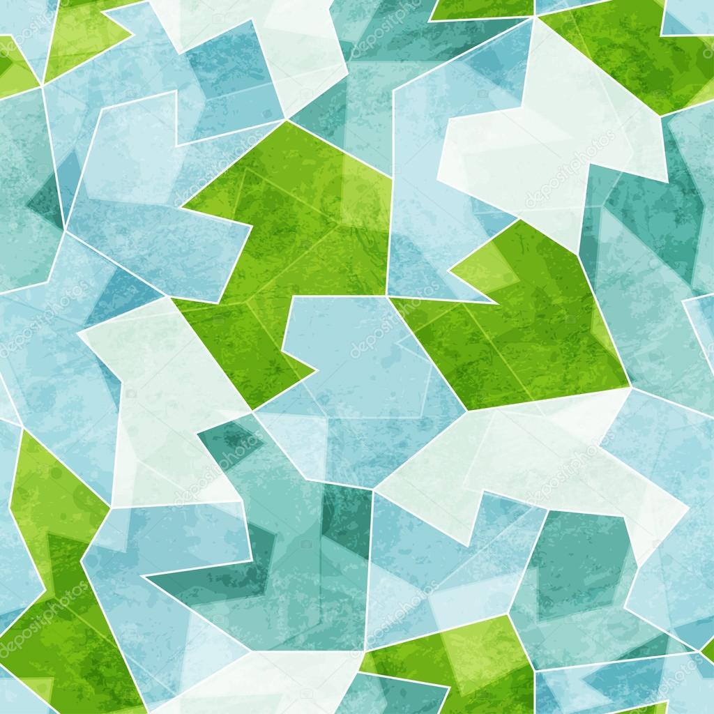 抽象蓝色马赛克无缝模式与