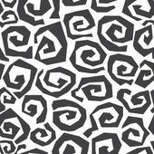Monochrome spiral seamless pattern — Stock Vector