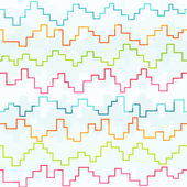 Colored pixel zigzag seamless pattern — Stock Vector