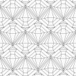 Monochrome diamond seamless pattern — Stock Vector