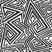 Monochrome spiral lines seamless pattern — Stock Vector