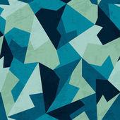 Patrón de mosaico de color marino con efecto grunge — Vector de stock