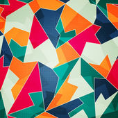 Colored triangle seamless pattern — Stock Vector