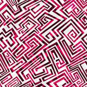 Modèle sans couture de labyrinthe rouge — Vecteur