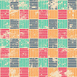 Colored woven seamless pattern with grunge effect — Stock Vector #41172021