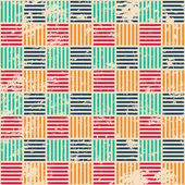 Colored woven seamless pattern with grunge effect — Stock Vector