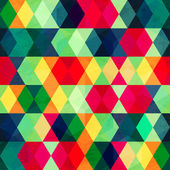Colorful triangle seamless pattern with grunge effect — Cтоковый вектор