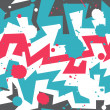 Vector de stock : Graffiti stripes with blob effect