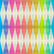 Stock Vector: Rainbow rhombus seamless pattern