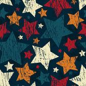 Grunge star seamless pattern — Stock Vector
