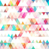 Rainbow triangle seamless pattern with grunge effect — Stock Vector