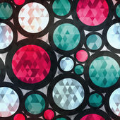 Retro circle seamless texture with diamond effect — Stock Vector