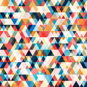 Retro triangle seamless pattern — Stock Vector