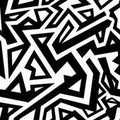 Monochrome aztec seamless pattern — Stock Vector