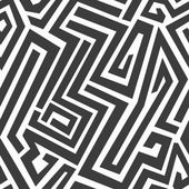 Monochrome maze seamless pattern — Stock Vector