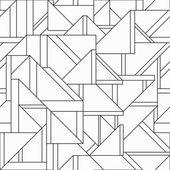 Monochrome retro triangle seamless pattern — Stock Vector