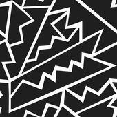 Monochrome tribal seamless pattern — Stock Vector
