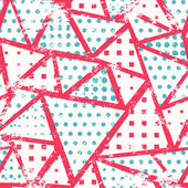 Pink triangles seamless pattern — Stock Vector